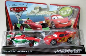Set 2 Masinute Cars 2 - Fulger McQueen si Francesco Bernoulli