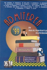 Admiterea 1999 invatamantul superior Bacalaureat
