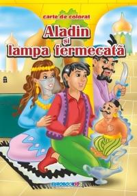 Aladin si lampa fermecata - Carte de colorat + poveste (format B5)