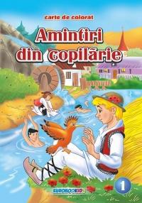 Amintiri din copilarie 1 [Pupaza din tei - La scaldat] - Carte de colorat + poveste (format B5)