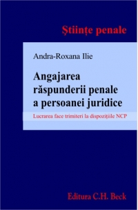 Angajarea raspunderii penale persoanei juridice
