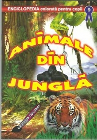 Animale din jungla Carte colorat