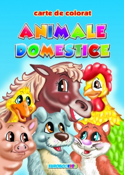 Animale domestice carte colorat (format