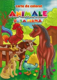 Animale ferma carte colorat (romana