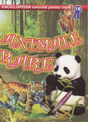 Animale rare Carte colorat