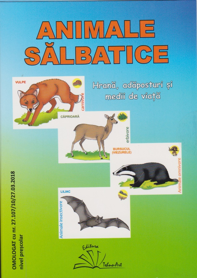 Animale salbatice (24 jetoane)