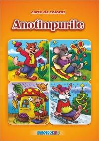 Anotimpurile - Carte de colorat romana-engleza (format B5)