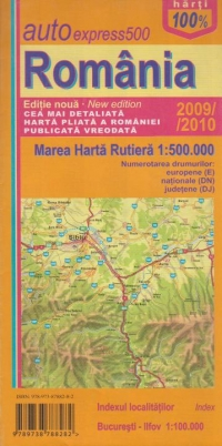 AutoExpress500 Romania - Mare harta rutiera 1:500:000