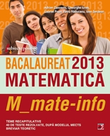 BACALAUREAT 2013 MATEMATICA M_MATE INFO