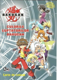 Culorile luptatorilor Bakugan. Carte de colorat