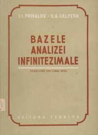 Bazele analizei infinitezimale