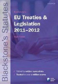 Blackstones Treaties and Legislation 2011