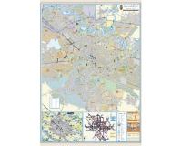 Bucuresti - Planul orasului (hartie laminata) 140x100