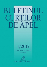 Buletinul Curtilor Apel 1/2012