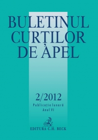 Buletinul Curtilor de Apel, Nr. 2/2012