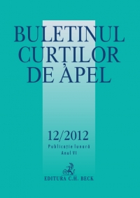 Buletinul Curtilor Apel 12/2012