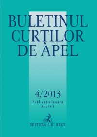 Buletinul Curtilor Apel 4/2013