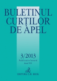 Buletinul Curtilor Apel 3/2013