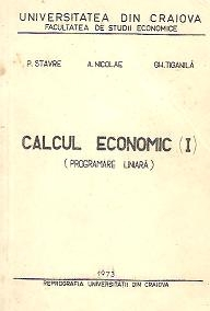 Calcul economic (I) Programare liniara
