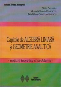 Capitole de algebra liniara si geometrie analitica