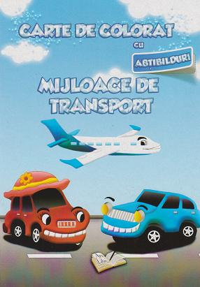 Carte colorat abtibilduri Mijloace transport