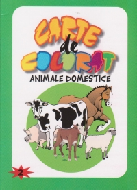 Carte de colorat. Animale domestice