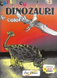 Carte de colorat cu Dinozauri - nr. 2