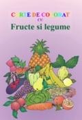 Carte de colorat cu Fructe si Legume