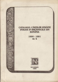 Catalogul cartilor straine intrate bibliotecile