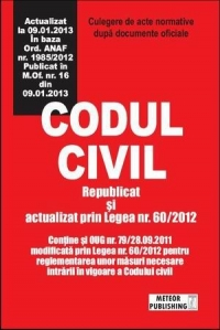 Codul civil actualizat 2013