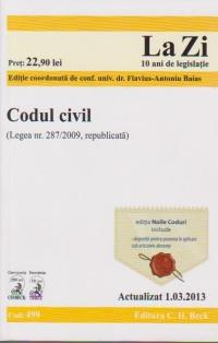 Codul civil (Legea nr. 287/2009,republicata). Actualizat 1.03.2013 Cod 499