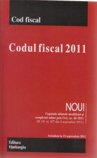 Codul fiscal 2011 Modificat prin