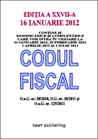 Codul fiscal 2012 editia XXV