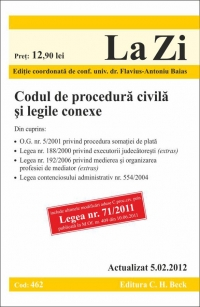 Codul procedura civila legile conexe