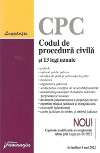Codul procedura civila legi uzuale