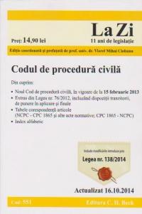 Codul procedura civila Cod 551