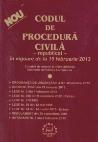 Codul de procedura civila -republicat- in vigoare de la 15 februarie 2013