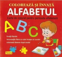 Coloreaza invata alfabetul Carte colorat
