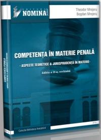 Competenta materie penala Aspecte teoretice