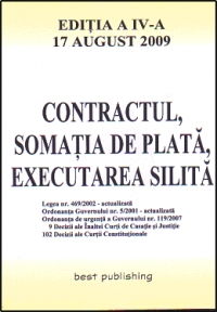 Contractul somatia plata executarea silita