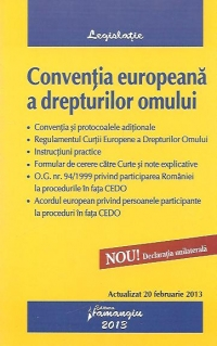 Conventia europeana drepturilor omului actualizat