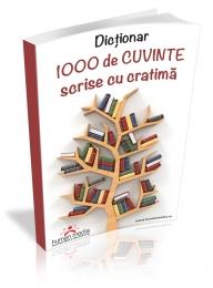 Dictionar 1000 cuvinte scrise cratima