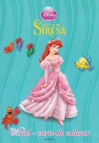 Disney Printese Ariel carte colorat