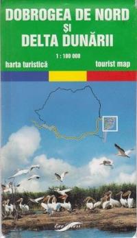 Dobrogea de Nord si Delta Dunarii - harta turistica (Scara 1:100.000)