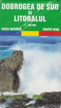 Dobrogea de Sud si litoralul - harta turistica (Scara 1:100.000)