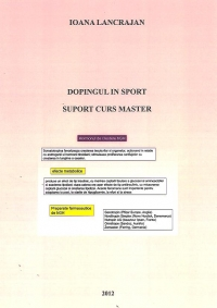 Dopingul sport Suport Curs Master