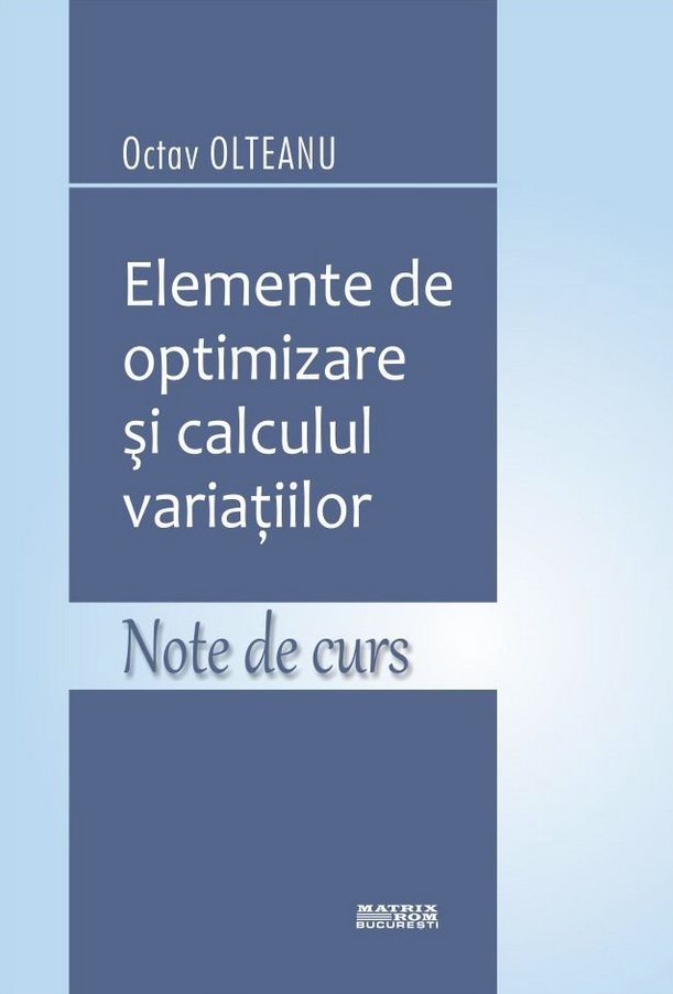 Elemente optimizare calculul variatiilor Note