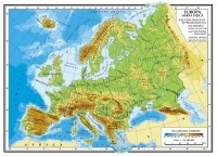 Europa - Harta fizica A4 - Harta politica A4