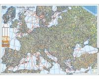 Europa - Harta rutiera cu relief (hartie laminata) 140x100