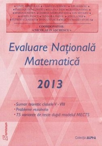 Evaluare Nationala Matematica 2013